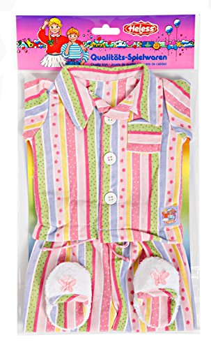 Heless 665 Flotter Puppenpyjama, mit kuscheligen Pantoletten, Größe 35-46 cm