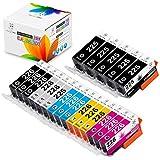 Miss Deer PGI-225 CLI-226 Ink Cartridges Work with PIXMA iP4820 iP4920 iX6520 MG5120 MG6120 MG8120 MG8220 MX712 MX882 MX892 MG8120B MG5220 20 Pack(3 Sets + 2 PGI Black)