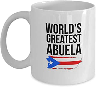 Abuela Mug - Novelty Puerto Rico Coffee Cup For Women With Puerto Rican Flag - Best Birthday, Mother's Day & Christmas Gift For Grandmothers With Latina Pride