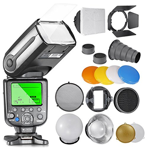 Neewe NW565EX E-TTL Slave Speedlite Kit for Canon Cameras, includes: (1)NW-565C Flash,...