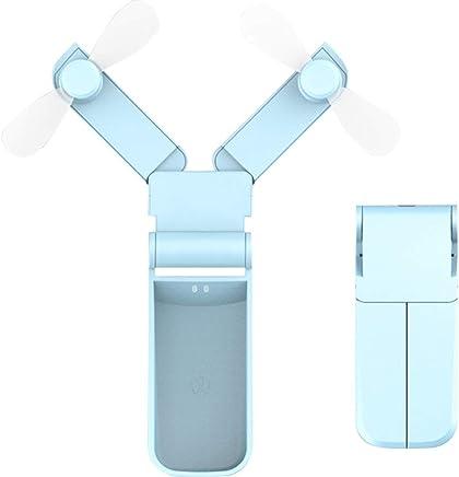 Small Fan Mini Dormitory Office Large Wind Handheld Portable USB Fan Rechargeable DC5V500mA 2.1W USB Fan Jiu Si Color : C