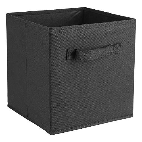 Ejoyous Juego de 6 cajas de almacenamiento plegables con forma de cubo con asas, para armario de juguetes, ropa, para casa, oficina, habitación de los niños, 26,7 x 26,7 x 28 cm