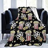 Needlove Ultra Soft Flannel Fleece Blanket VIP Movie Night Pop Corn Stylish Bedroom Living 60'x50' Room Sofa Warm Blanket for Adult