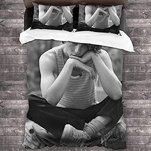 HSBZLH Fundas De Edredón Juego De Ropa De Cama De 3 Piezas One Direction All Seasons Juego De Funda Nórdica con 1 Funda Nórdica 2 Fundas De Almohada para Adolescentes Niños Niñas