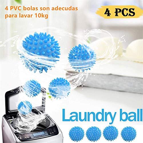 Pelotas para Secadora,4 pcs Accesorios de lavandería Bolas,Bolas de Secadora Reutilizables,Bolas de…