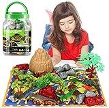 Laelr Dinosaur Toys Set, 49 Piezas Jurassic World Toys, Educational Dinosaur Toy Realistic Dinosaur Figures for Boys & Girls Toy