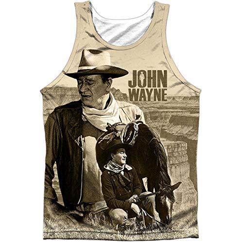 John Wayne - Camiseta - Camiseta gráfica - Manga corta - opaco - para hombre blanco blanco Medium