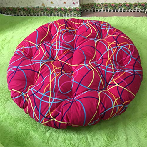 HAOCHI Large Round Papasan Chair Cushion,Thicken Swing Chair Cushion For Outside,Wicker Rattan Hanging Basket Seat Cushion Egg Nest Replacement Pad