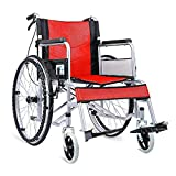 NBVCX Household Products Wheelchair Elderly Disabled Walker Aluminum Alloy Handmade Steel Comfortable Light Portable Transport Folding Portable Travel Chair