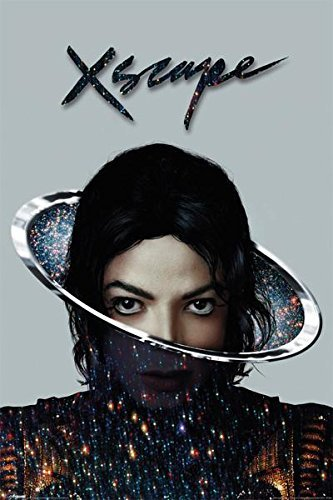 Michael Jackson Xscape - Poster con copertina per album musicale 'King of Pop Escape', 36 x 24 cm
