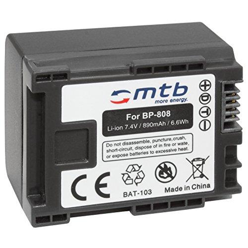 Batterie BP-808 pour Canon LEGRIA FS22, FS36, FS37, FS46, FS200, FS305.+ Voir liste!