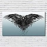 Kreative offene Flügel Schwarzer Adler Tier Vogel Wandkunst drucken Poster Malerei Bild Spiel Power Movie Home Decor Leinwand Malerei 80 * 140cm