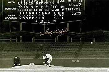 Sandy Koufax Autograph Replica Super Print - Dodger Stadium No Hitter - Landscape - Unframed