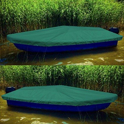 Sitzbag Anka Bootsplane Grün für Anka Ruderboote - Plane mit Kordelseil und Schlaufen - Premium Persenning Fischerboot Plane Abdeckplane Angelboot
