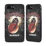 Head Case Designs Ufficiale Motorhead Bomber Arte Chiave Cover Nera Evolution Compatibile con Apple iPhone 7 Plus/iPhone 8 Plus