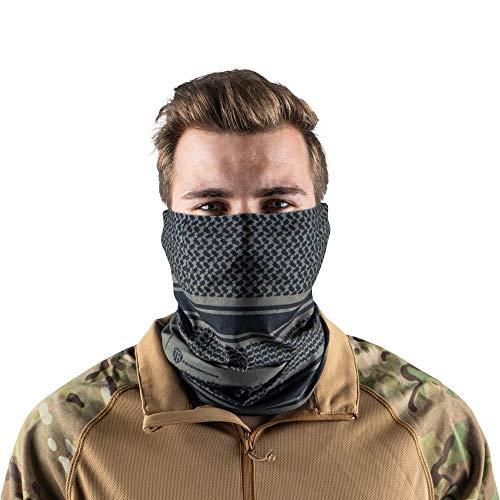 Terra Kuda Face Clothing Neck Gaiter Mask – Non Slip Light Breathable for Sun Wind Dust Bandana Balaclava (Green Shemagh)