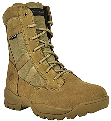 Smith & Wesson Footwear Men's Breach 2.0 Tactical Size Zip Boots, Coyote, 12.5