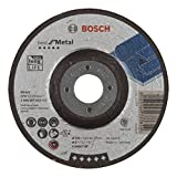 BOSCH 2608603533 - Disco sgrossatore con raccordo a gomido, per Metal A 2430 T BF, 125 mm,...