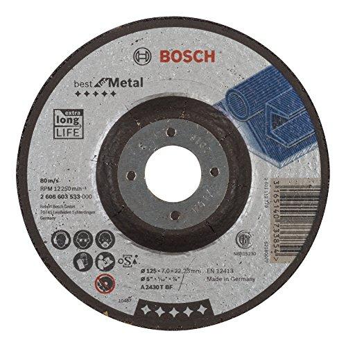 Bosch Professional Schruppscheibe gekröpft, Best für Metal A 2430 T BF, 125 mm, 22,23 mm, 7 mm, 2608603533