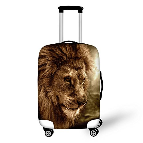 Coloranimal Cool Animal Lion Head Elastic Thick Luggage Protective Covers for 26' 28' 30' Suitcase