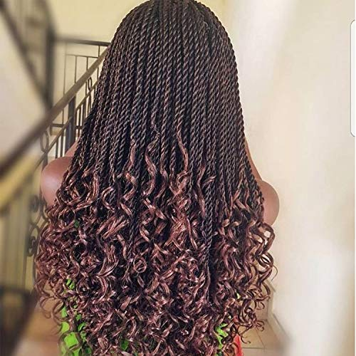 Callia Goddess Senegalese Twist Crochet Hair Curly Ends 16Inch 6 PACKS Crochet Braids Senegalese Twist Pre Looped Crochet Hair Extension 30 Strands/Pack (16Inch, T30)
