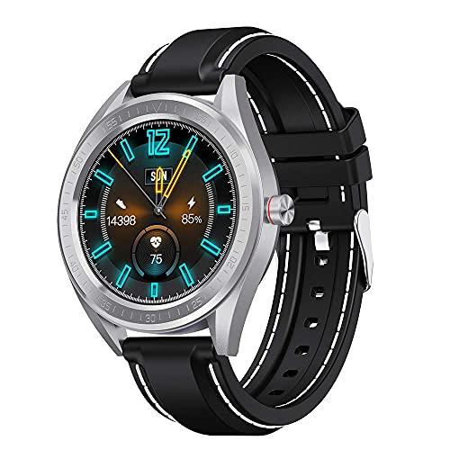KDMB Reloj Inteligente Podómetro Deportivo IP68 Reloj Inteligente Bluetooth a Prueba de Agua Presión Arterial Frecuencia cardíaca Sueño Monitoreo de la Salud Información Inteligente RecordatorioC