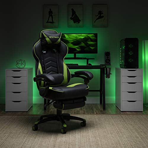 RESPAWN 110 Racing Style Gaming Chair, Reclining Ergonomic Chair with Footrest,...