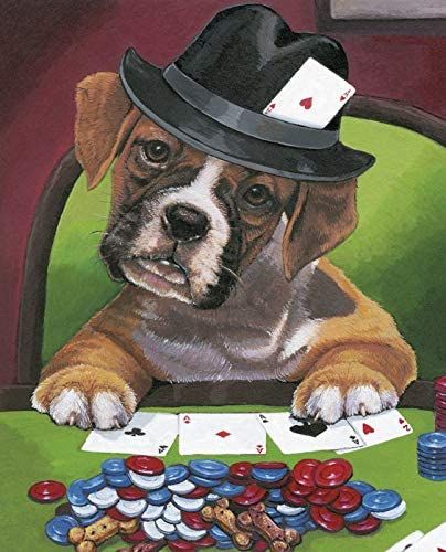 David Textiles Poker with The Boys Boxer Panel Cotton Fabric 36 X 44 Inches Green
