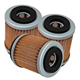3-Pack Oil Filter Compatible with Yamaha Xt225 Xt-225 Serow 225 1992-2007