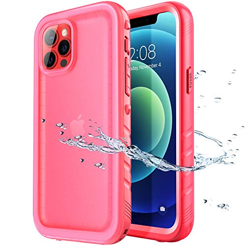 SPORTLINK Compatible with iPhone 12 Pro Max Waterproof Case - Full Body Shckproof Dustproof Phone Screen Protector Rugged Cases for iPhone 12 Pro Max 6.7 Inches Pink