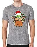 Sartamke Baby Yoda Christmas Cute Camiseta Cuello Redondo Hombre Medium