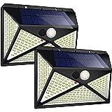 DOOK Luz Solar Exterior, Luces Led Solares para Exteriores, 270 LED/4 Modos Focos Led Exterior Solares 300º Lluminación Foco Solar con Sensor de Movimiento Impermeable para Exterior Jardin