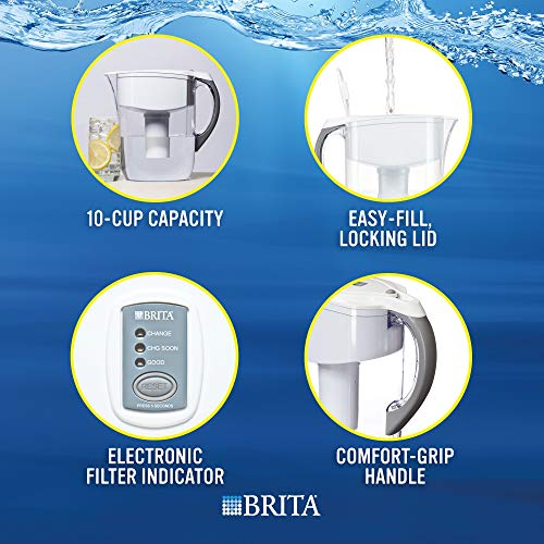 Brita Large 10 Cup Grand Water Pitcher with Filter - BPA Free - Grand,...