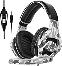 Gaming Headset for PS4,PS5, PC, Xbox One, Surround Sound Over-Ear Headphones with Noise Cancelling Mic, Comfort Earmuffs for Laptop, Mac, Nintendo PC(Gray)