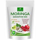 Frullato di Moringa in polvere, energizzante, vitaminico, proteico, sostituisce il pasto - sapori diversi, 100% naturale e vegano, senza zuccheri aggiunti* (250 g aroma di melograno)