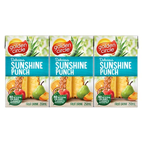Golden Circle Sunshine Punch Fruit Drink, 6 x 250ml