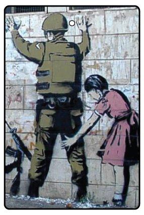 AAF Ambientador De Coche BANKSY GIRL SEARCHING SOLDIER
