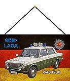 FS Polizei Auto DDR Lada was 1200 Volkspolizei Blechschild Schild gewölbt Metal Sign 20 x 30 cm mit Kordel