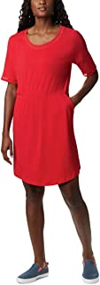 فستان نسائي من Columbia Slack Water Knit Dress Pfg Slack Water Knit Dress ، ماص للرطوبة، حماية من الشمس