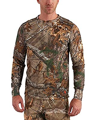 Carhartt Men's 102222 Base Force Extremes Cold Weather Camo Crewneck - Large - Realtree Xtra