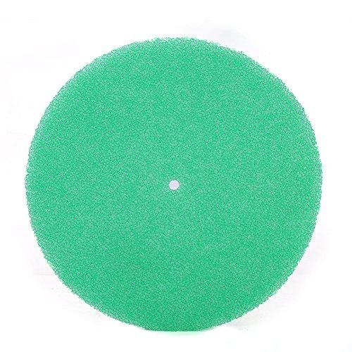 Qiilu 20 * 250 mm ronde vorm paddenstoelhoofd luchtfilter vervangspons 3 lagen luchtfilter spons default groen