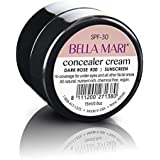 Natural Concealer Cream by Bella Mari (Dark Rose, 0.5 Fl Oz Glass Jar) - Made with Organic Ingredients - No Toxic Chemicals