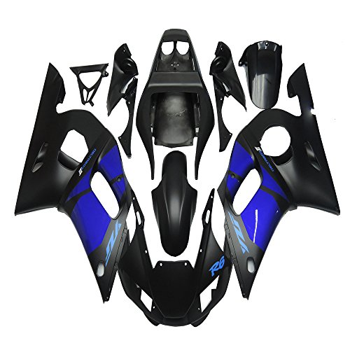 NT FAIRING New Blue Black Injection Mold Fairing Fit for Yamaha 1998-2002 YZF R6 1999 2000 2001 Painted Kit ABS Plastic Motorcycle Bodywork Aftermarket
