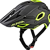 Alpina Unisex– Erwachsene ROOTAGE Fahrradhelm, Black-neon-Yellow, 52-57 cm