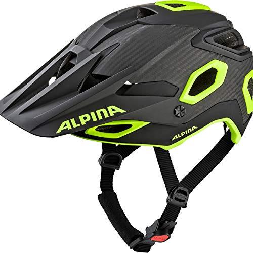 ALPINA Unisex - Erwachsene, ROOTAGE Fahrradhelm, black-neon-yellow, 52-57 cm