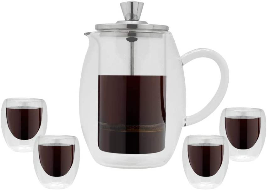 Grunwerg Cafetiere Gift Boxed Black Set 市販 Silver 期間限定お試し価格 300ml