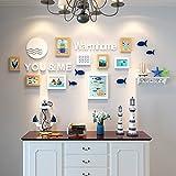 Yxsd Decoración de Pared con Foto mediterránea Foto de Marco de Pared Marcos de Sala de Estar Creativa Comedor Fondo de Pared Combinación Dormitorio Foto de Pared (Color : B)