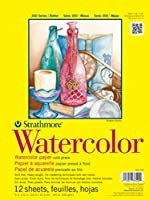 """Strathmore STR-360-118 12 Sheet Watercolor Taped Pad, 18 by 24"""""""