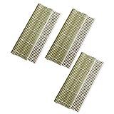 JXCAA 3 Piezas Esterilla De Bamboo para Sushi, Persianas De Bambú Antiadherentes De Sushi para El Hogar, Herramientas para Hacer Arroz con Algas Marinas, 24 * 24 Cm, 27 * 27 Cm, 30 * 30 Cm