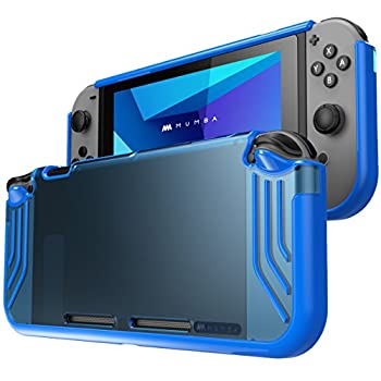 Mumba case for Nintendo Switch [Slimfit Series] Premium Slim Clear Hybrid Protective Case for Nintendo Switch 2017 Release  Blue